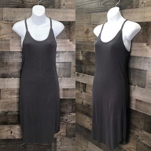 Gentle Fawn Gray Knit Racerback Midi Dress